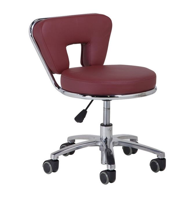 Tech Stool TS001 - Bright Burgundy