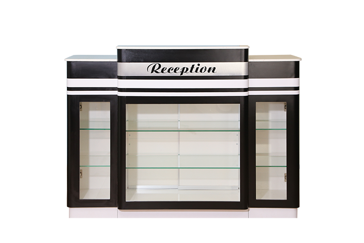 RECEPTION COUNTER C-394W2-(142-9031) - WHITE MARBLE
