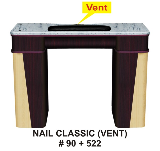CLASSIC NAIL TABLE_90_522 W with Vent