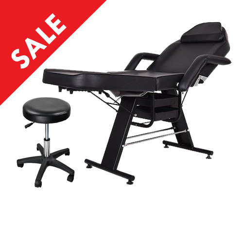 Facial Bed With Stool DY215 (Black)