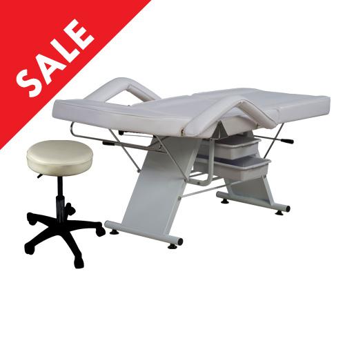 Facial Bed With Stool DY215001A (White)