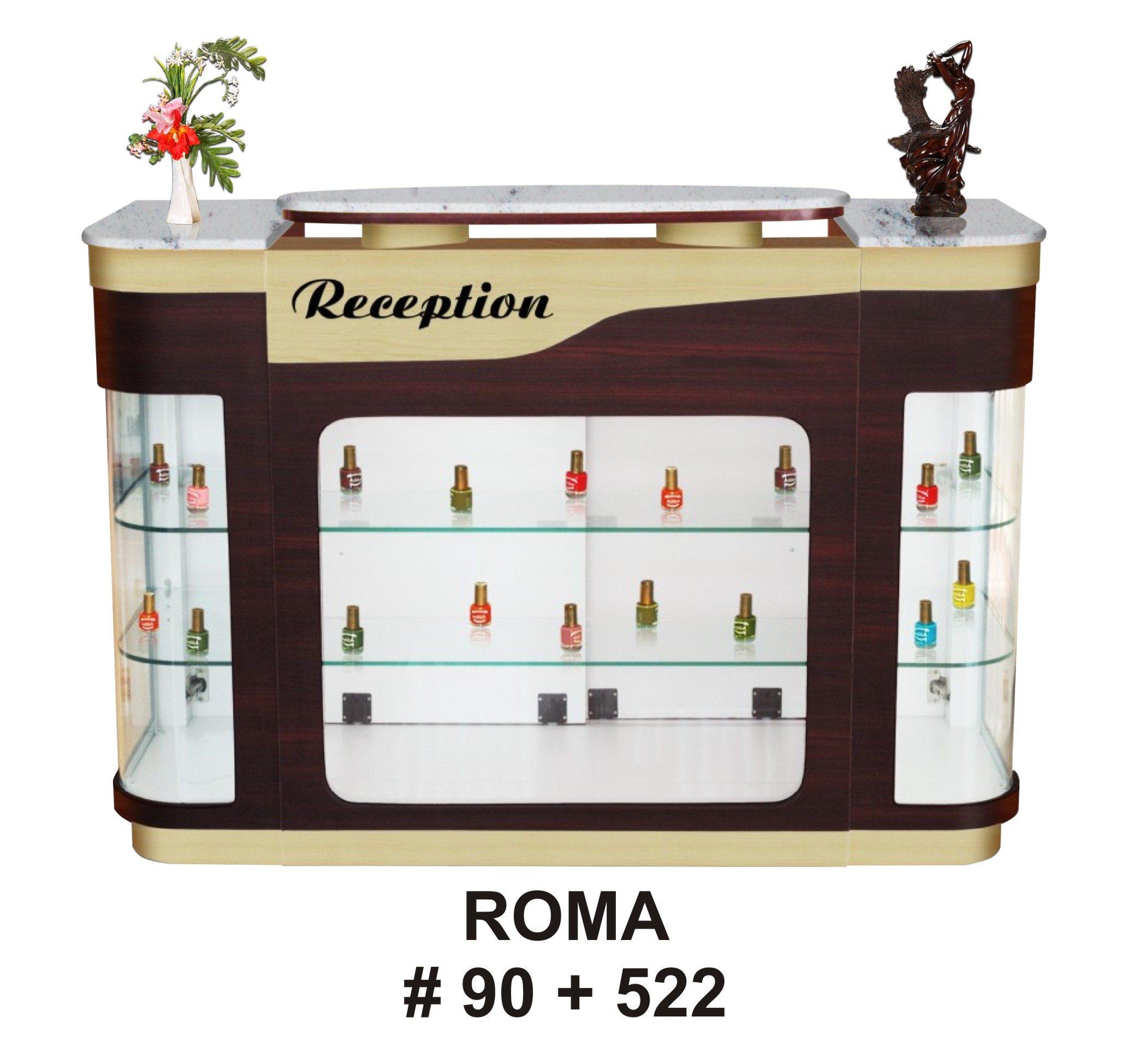 RECEPTION COUNTER ROMA (90+522) - WHITE MARBLE