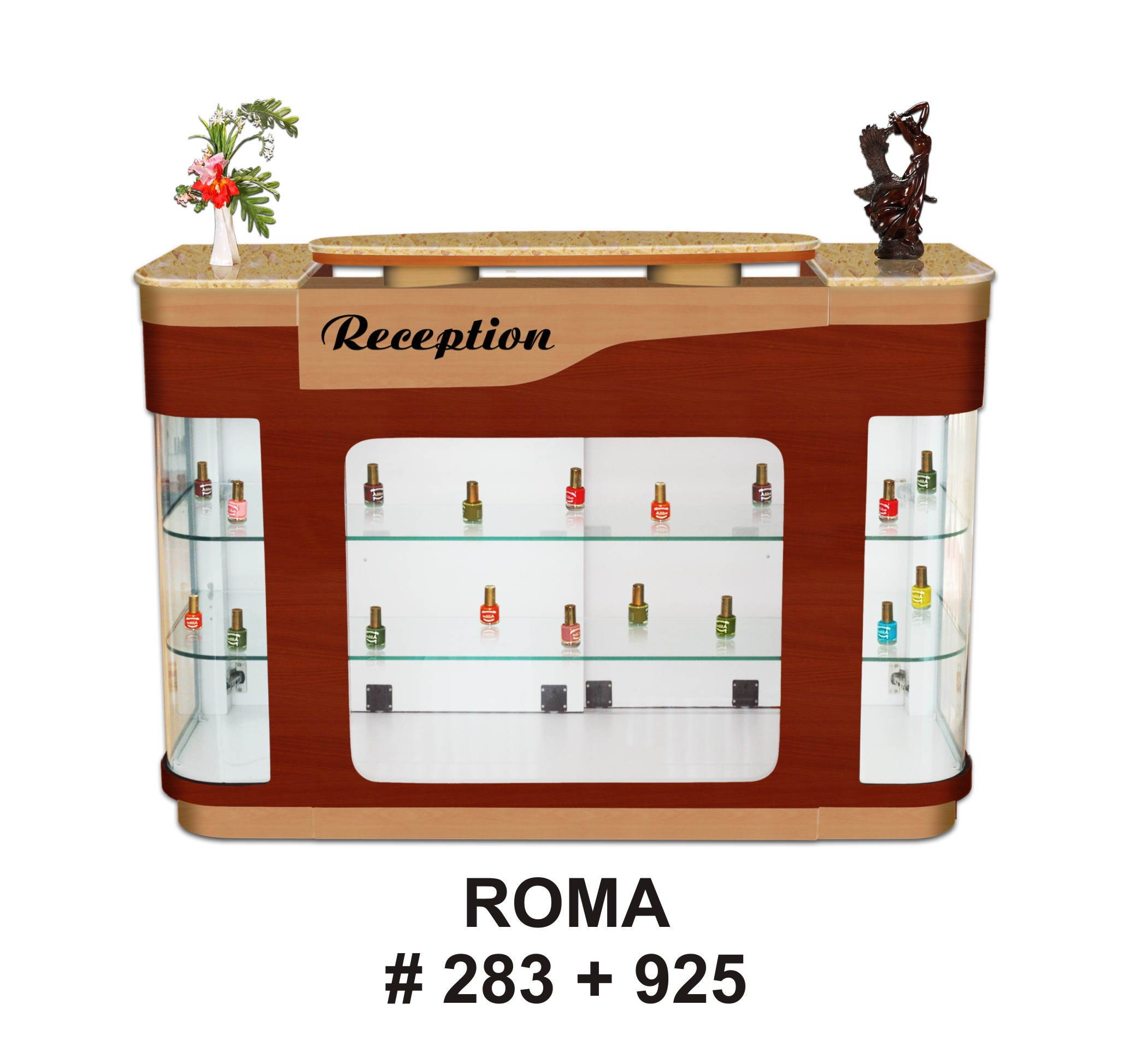 ​RECEPTION COUNTER ROMA (283+925) -YELLOW MARBLE